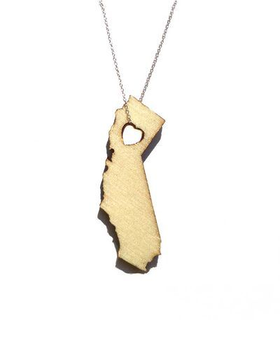 State Necklaces. I would love to get one for Lawrence, KS