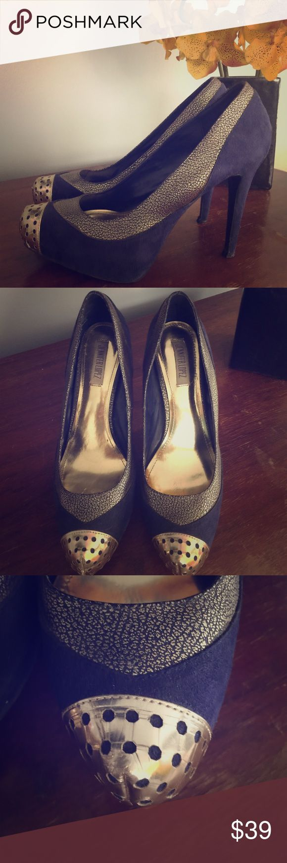 Jennifer Lopez High Heels 👠 The most amazing pair of JL shoes. Great condition but see pictures for a better view. Jennifer Lopez Shoes Heels