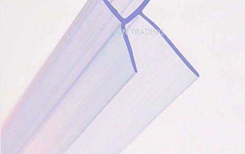 Joint de porte de douche HNNHOME pour paroi en verre 4-6mm de forme droite ou incurvée, jusqu'à 20 mm de jeu: 870mm de long, bien protégé…