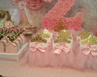Pink and gold partyPrincess dresses Party by HeidiPartyCreations