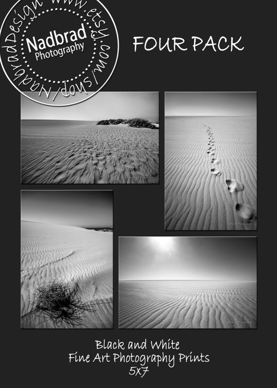 Amazing discount 4 picture set Sanddunes and by NadbradDesigns