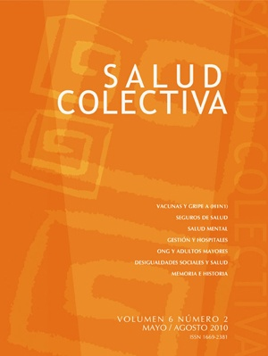 Salud Colectiva es una publicación científica cuatrimestral editada por la Universidad Nacional de Lanús, cuyo objetivo es difundir artículos originales e inéditos en español que contribuyan al estudio del proceso salud-enfermedad-atención-cuidado.