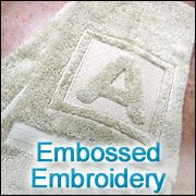 Embossed machine embroidery tutorial...site has lots of other ideas (with instructions), too.