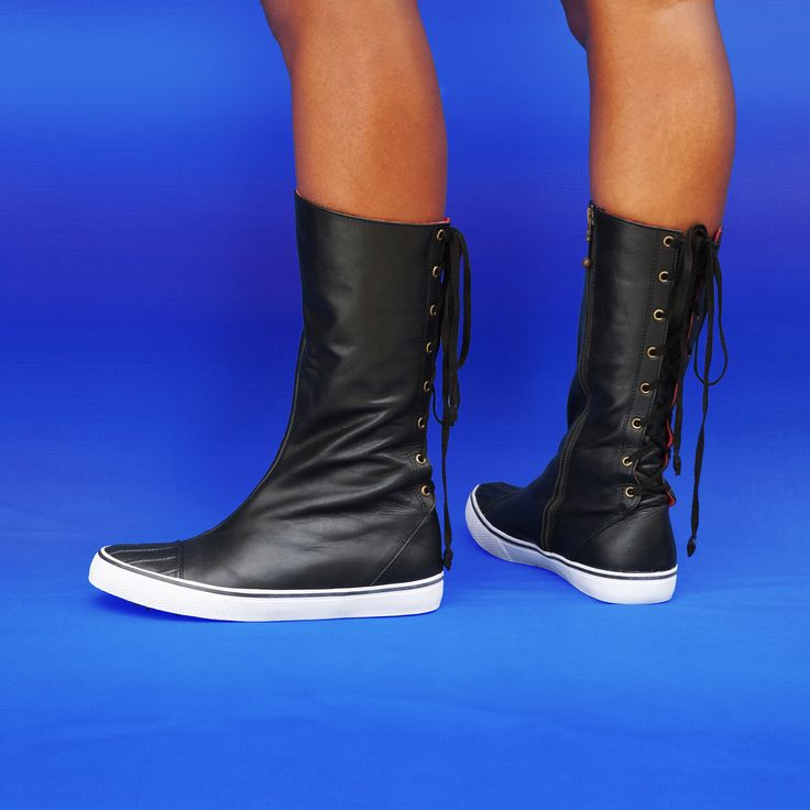 TRAINERS - Sports-luxe leather boots w rubber sole by Preston Zly