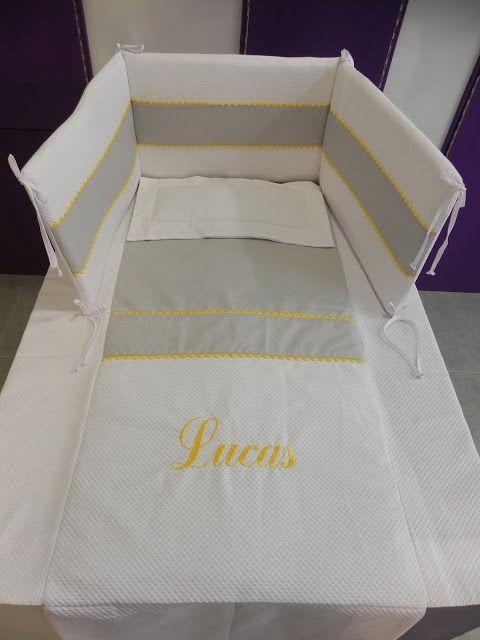 b e b e t e c a: CUNA PERSONALIZADA Colcha, protector y almohada para cuna de 120x60cm, bebetecavigo