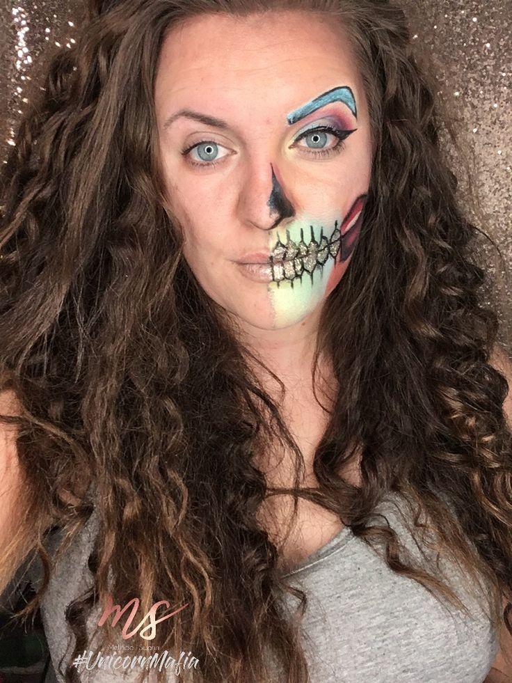 Skeleton Rainbow 🌈 Halloween makeup.  Follow IG: melinda_swann  Facebook: Melinda Swann    Youtube: Melinda Swann Unicornmascaracosmetics.com