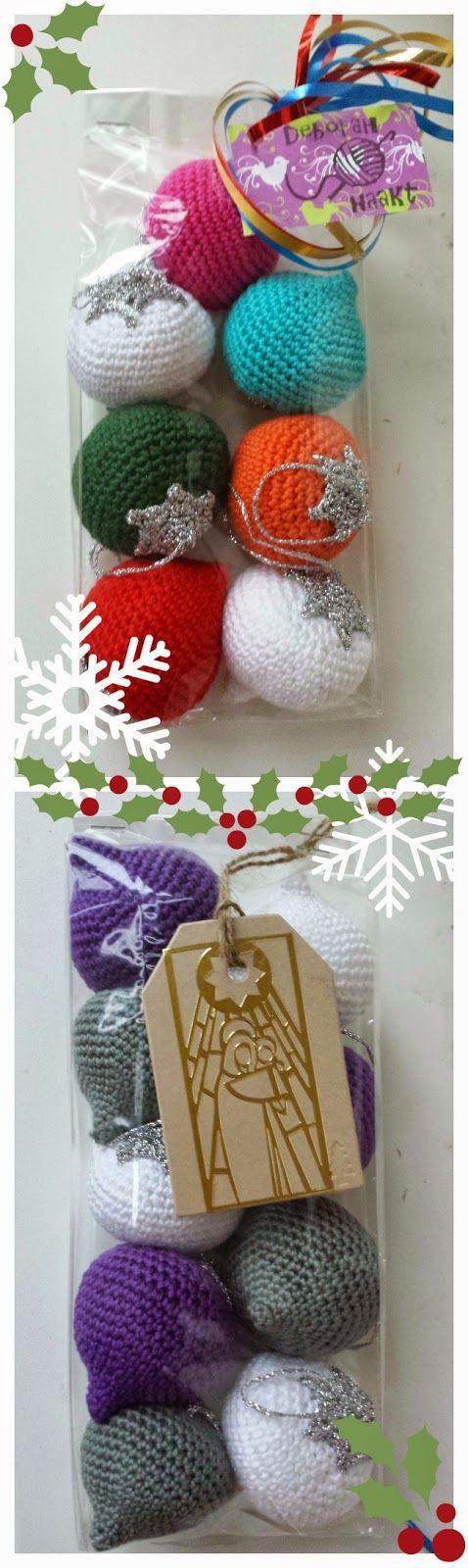 deborah haakt kerstballen crochet christmas balls