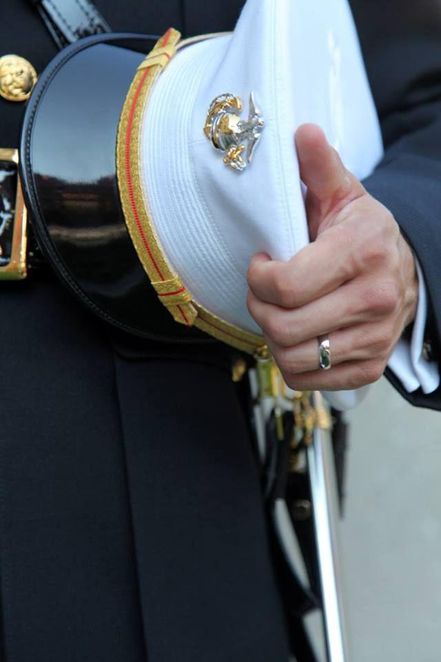 Military Wedding. I love marine officer uniforms <3
