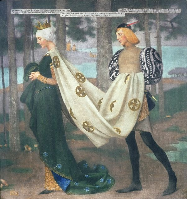 """Marianne Stokes (Austrian, 1855-1927), """"The Queen and the Page"""" (1896) by sofi01, via Flickr"""