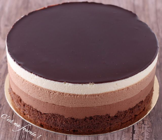 L'entremets trois chocolats de Valrhona - C'est ma fournée !