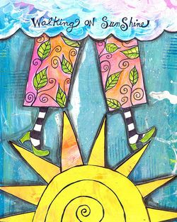 Walking on sunshine: Quotes, Journal Inspiration, Journal Art, Art Journals, Sunshine, Photo, Art Journaling