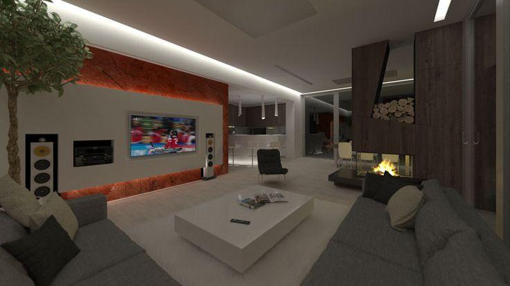Ambientné osvetlenie v noci, ideálne na sledovanie TV..