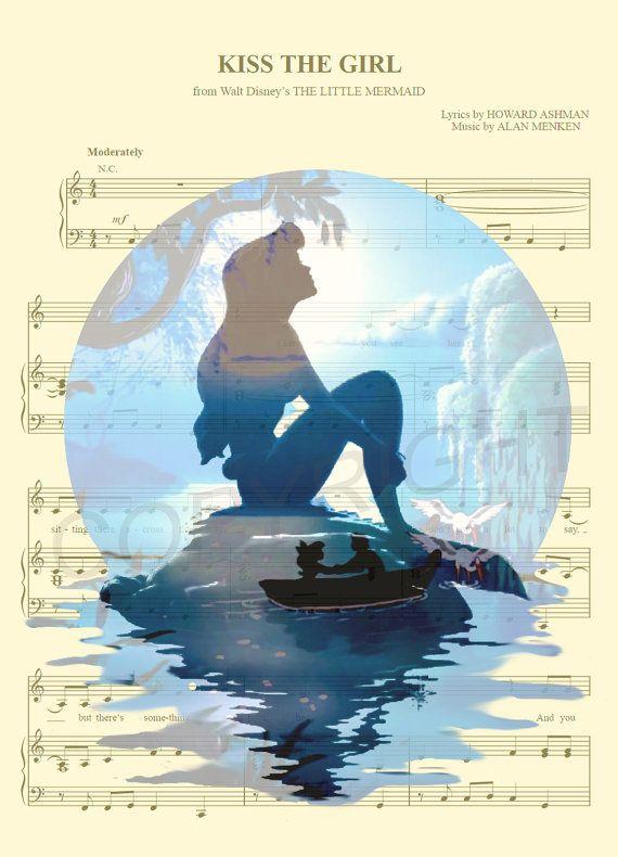 Die kleine Meerjungfrau Ariel-Kunstdruck von AmourPrints auf Etsy
