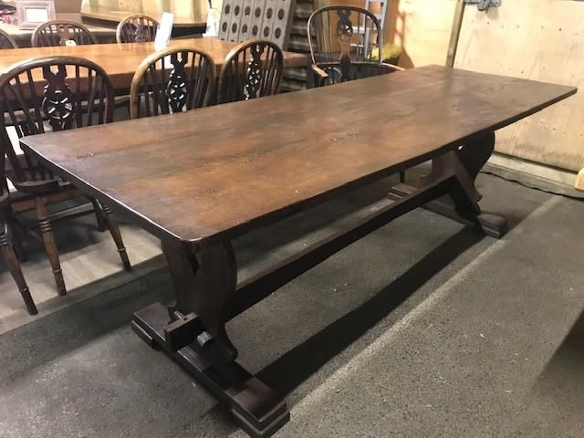 Oak Trestle Table Antique Dining Tables Table Trestle Table