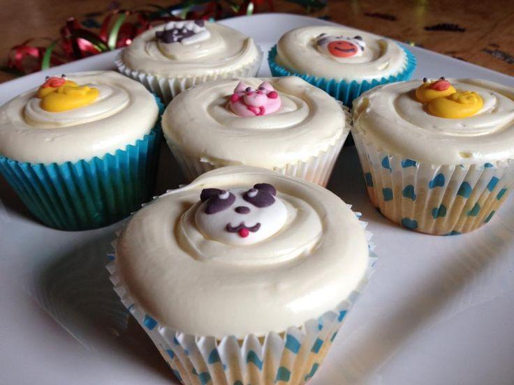Aaron's 1st birthday cupcakes.