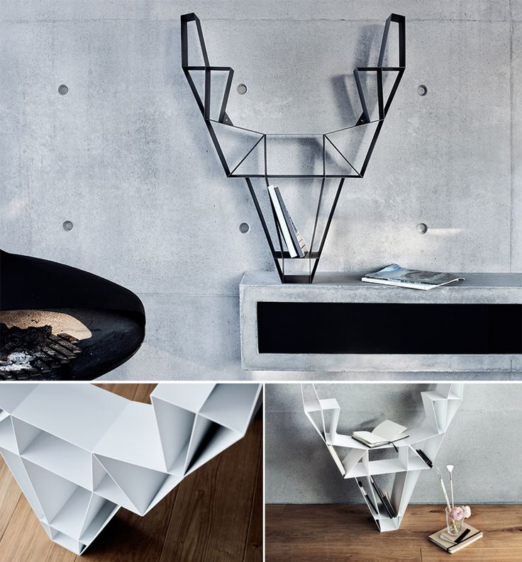 Deer shelf by BEdesign is an impressive-looking bookshelf inspired by the wild deer in the forest. The appearance of the shelf is very interesting and it reminds you of the noble nature. Deer shelf is available in two differents sizes that comes in three colors, modern metallic white and black and wooden version. Deer shelf ...
