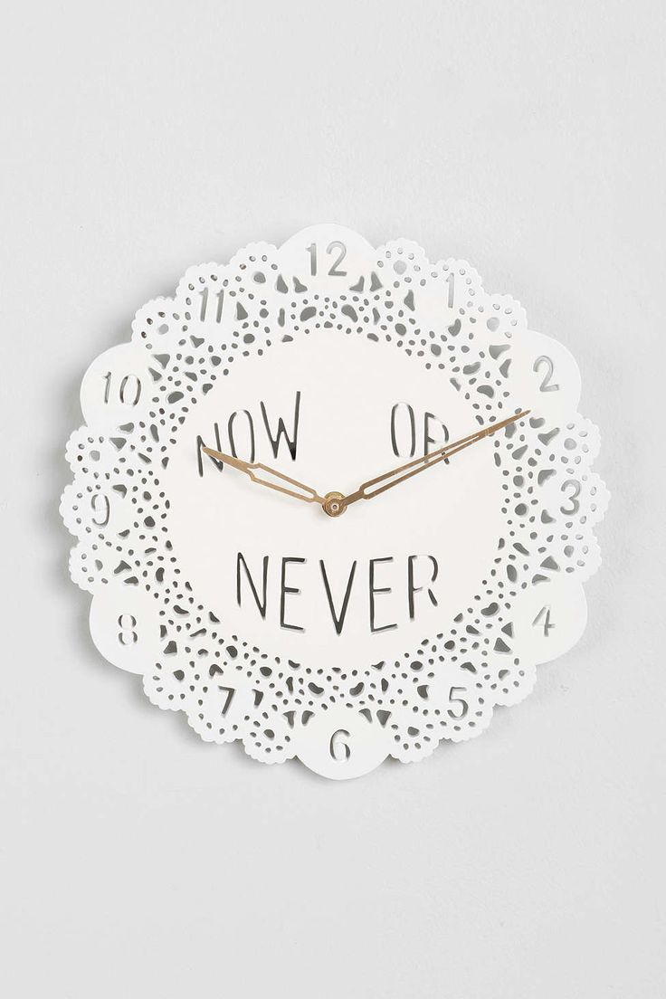 Plum & Bow Now Or Never Clock - Urban Outfitters #decor #clocks