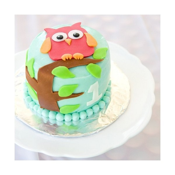 Cakes / owl cake ❤ liked on Polyvore