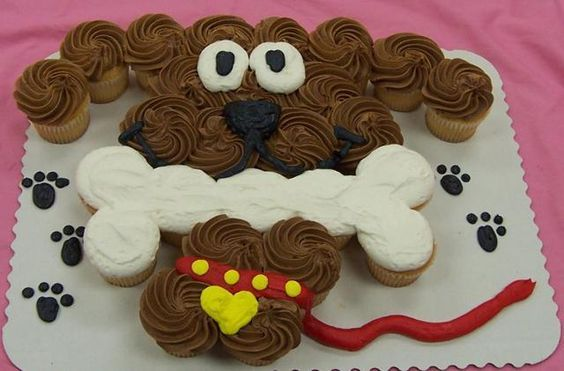 Dog Cupcake Cake...these are the BEST Pull-Apart Cake Ideas!
