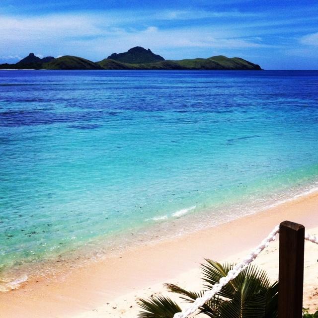 Piercing aqua blue waters of Fiji.