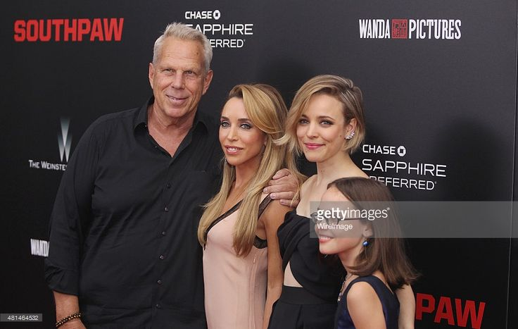 Producer Steve Tisch,Katia Francesconi and actors Rachel McAdams and Oona Laurence attend the 'Southpaw' New York premiere at AMC Loews Lincoln Square on July 20, 2015 in New York City.