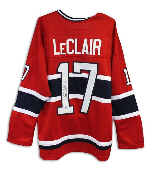 John LeClair Montreal Canadians Autographed Red Jersey