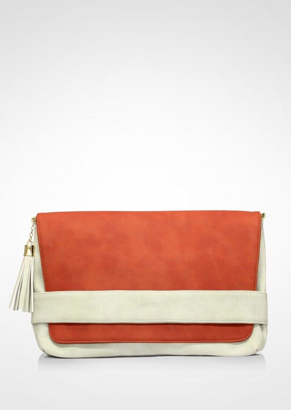 Ariela Orange #clutch #anakabags #anaka #indonesianbrand #bags