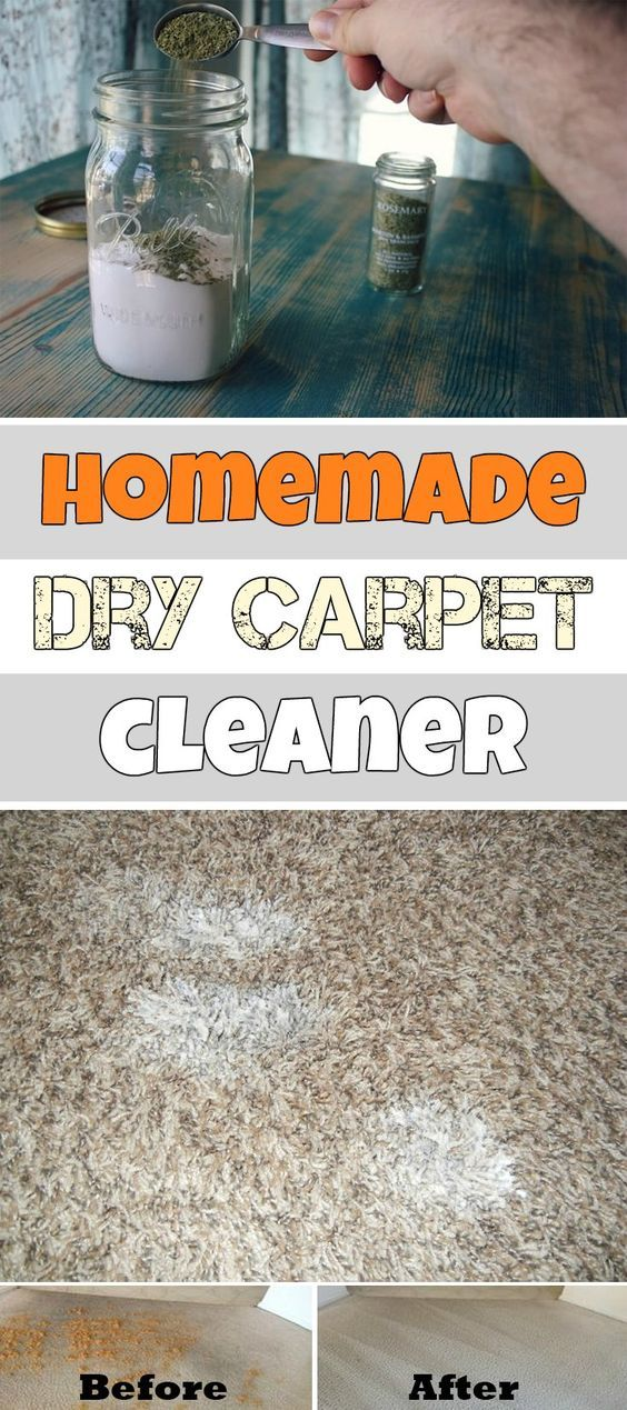 Homemade Dry Carpet Cleaner, mix rosemary into baking soda, that simple, let sit for about 20 minutes then vacuum up.