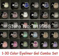 Envío gratis !! 30 Delineador de ojos Prueba Gel Eyeliner Agua Otros Colores