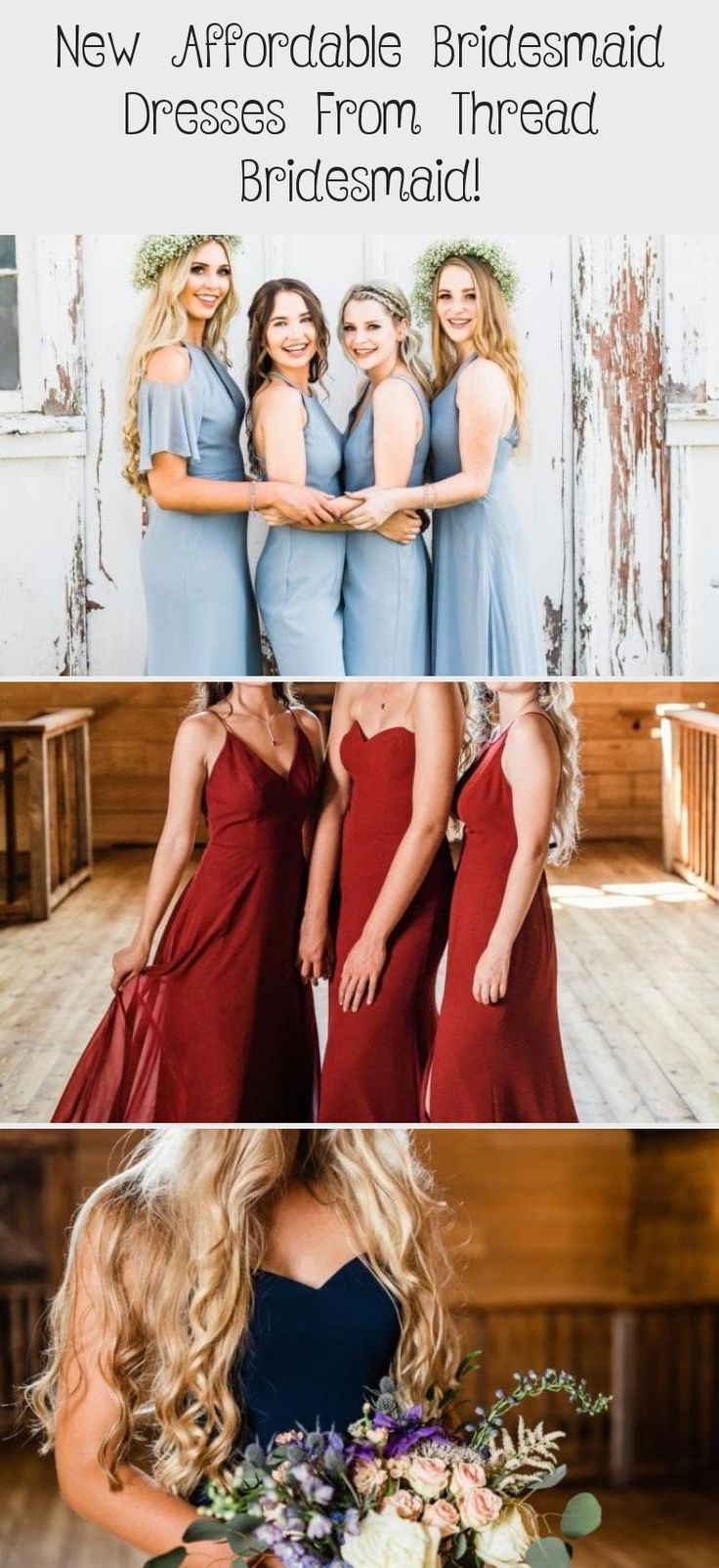 Light blue boho style affordable dresses for bridesmaids from Thread Bridesmaid! #bridesmaids #bridesmaid #bridesmaiddresses #ChampagneBridesmaidDresses #BridesmaidDressesShort #BridesmaidDressesMint #BridesmaidDressesStyles #MixAndMatchBridesmaidDresses