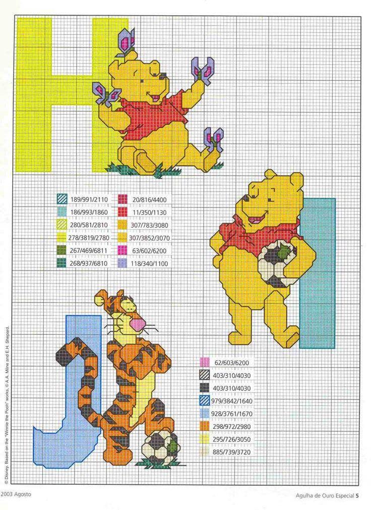 Schema punto croce Winnie h i j