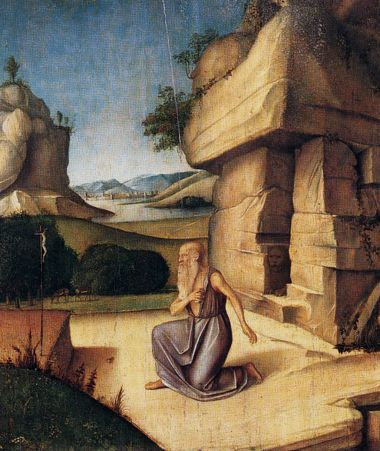 http://museolia.spezianet.it/images/opere/inv_279_big.jpg Alvise Vivarini St. Jerome repenting end of 15th century.