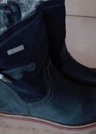 Kaufe meinen Artikel bei #Kleiderkreisel http://www.kleiderkreisel.de/damenschuhe/stiefelette/163798732-dunkelblaue-tamaris-stiefelette-tirolesa-gr-38-schmale-fusse