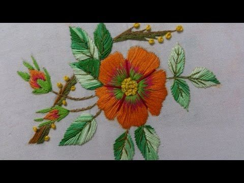 Flower Embroidery Design | Hand Embroidery Designs for Dresses - YouTube