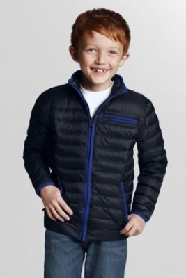 Boys' Channel Quilt Down Jacket from Lands' End