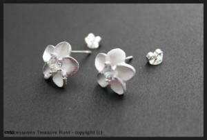 925 Sterling Silver Filled Daffodil Earring Studs