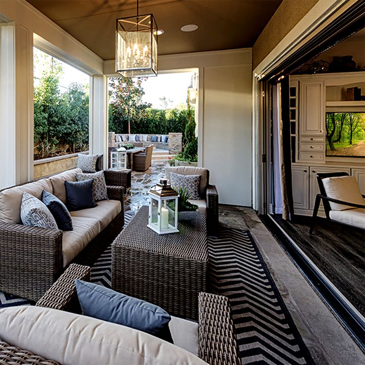 Outdoor Living Room Design: Design Tip: Make Your Patio Inviting By Adding An Outdoor