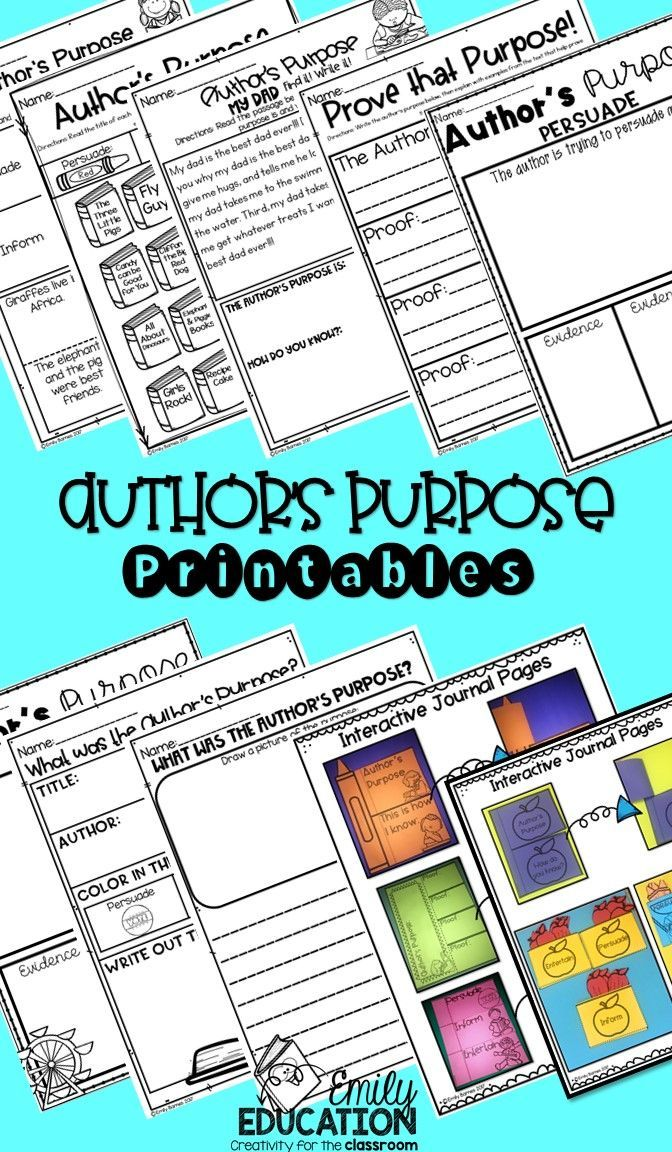 The 25+ best Author's purpose worksheet ideas on Pinterest ...
