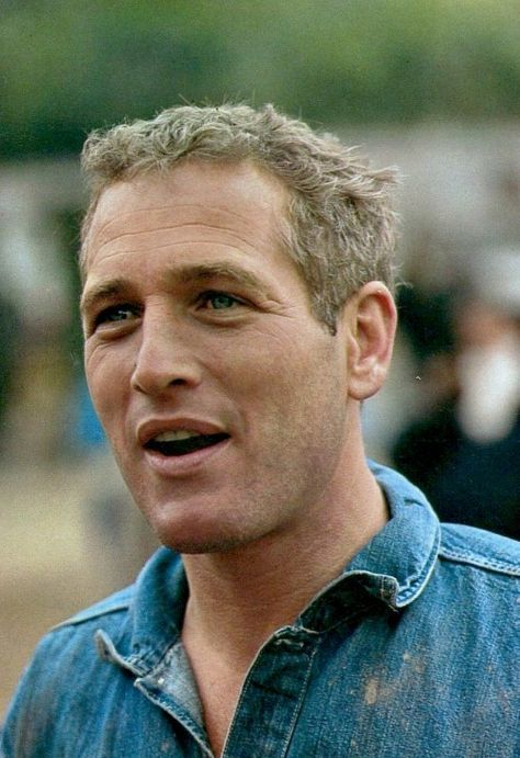 Paul Newman on the set of Cool Hand Luke, 1967.