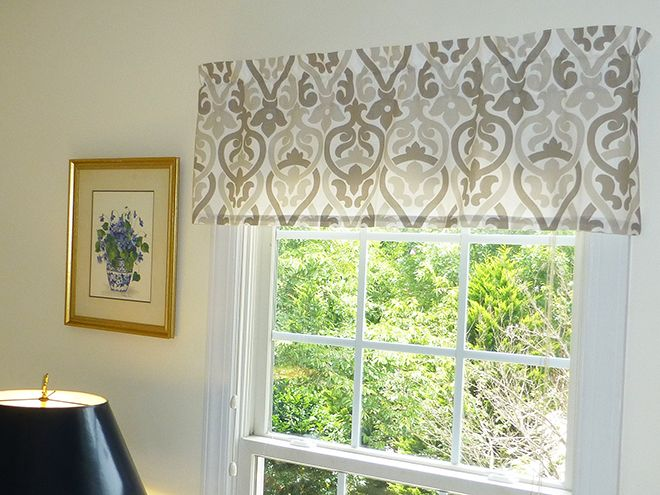 appleberry attic window valance in our alex beige fabric features measures 52