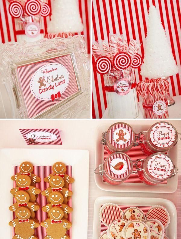 Christmas Themed Birthday Party Ideas Part - 48: A Festive U201cChristmas Candylandu201d Theme-part2. Winter ChristmasChristmas  PartiesChristmas ...