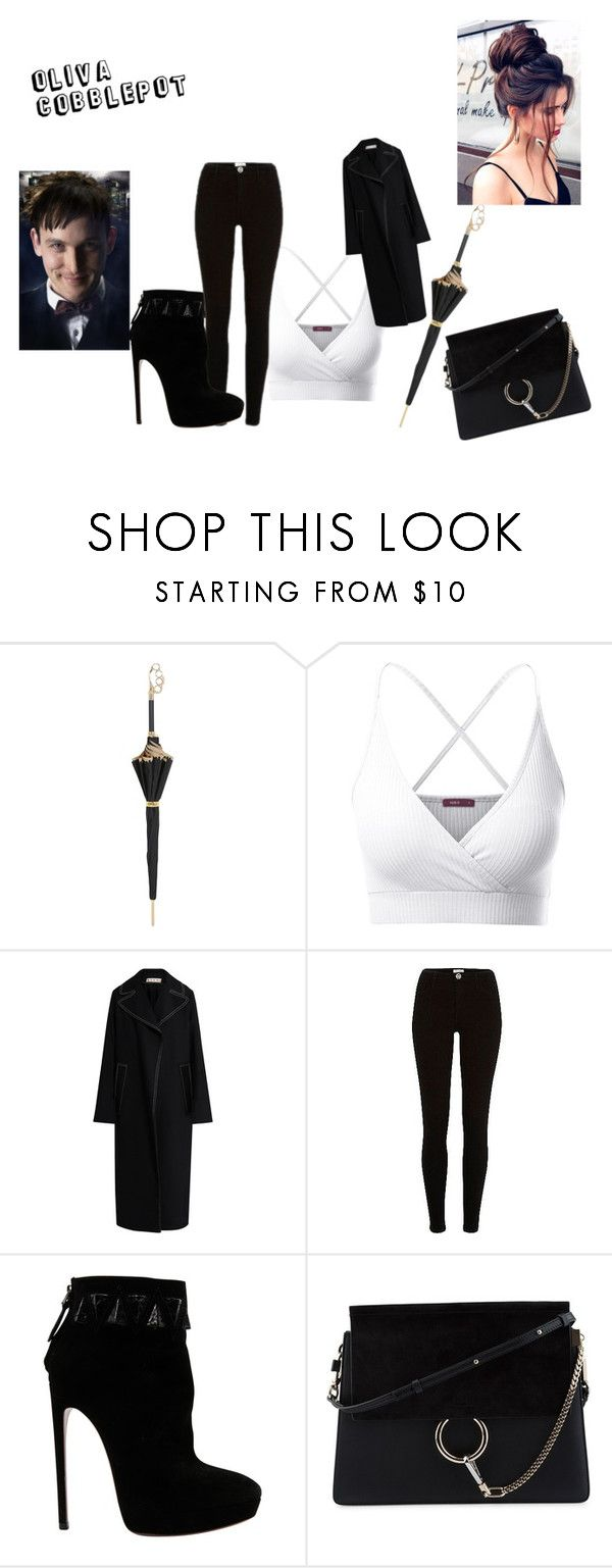 """""""GOTHAM IS THE STUFF"""" by brianna-felder ❤ liked on Polyvore featuring Pasotti Ombrelli, Doublju, Marni, River Island, Alaïa and Chloé"""