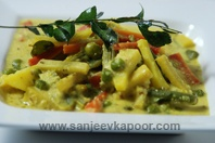 Aviyal-a typical vegetable curry from south of india.Healthy and tasty.Easy to make. http://www.sanjeevkapoor.com/aviyal-foodfood-sirf-30-minute.aspx
