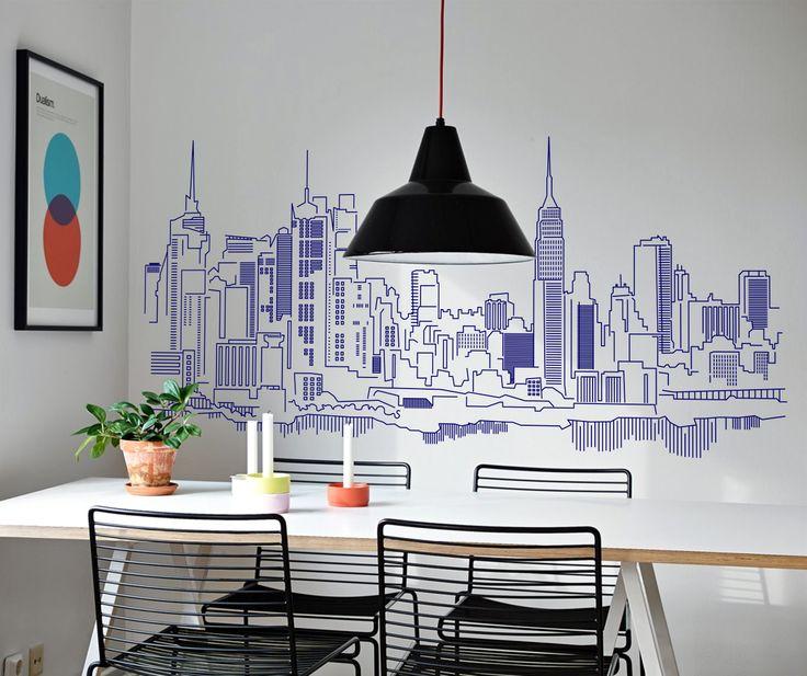 Vinilo decorativo de un skyline de la ciudad de New York 4.