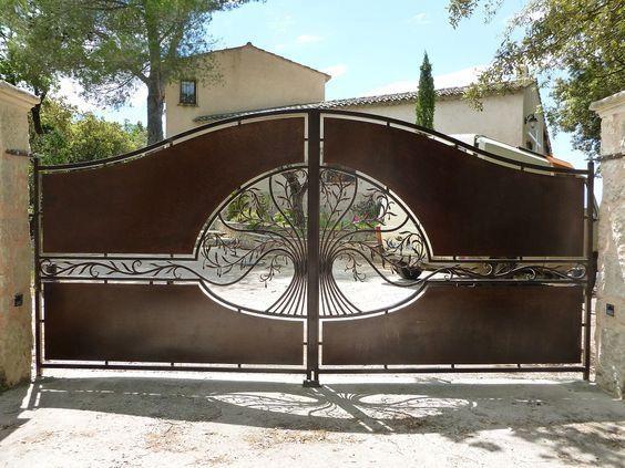 27 best Portail maison images on Pinterest Door entry, Metal gates
