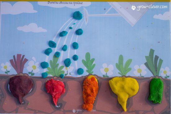 лепим овощи, шаблоны для лепки, игры с детьми летом, творчество с детьми летом
