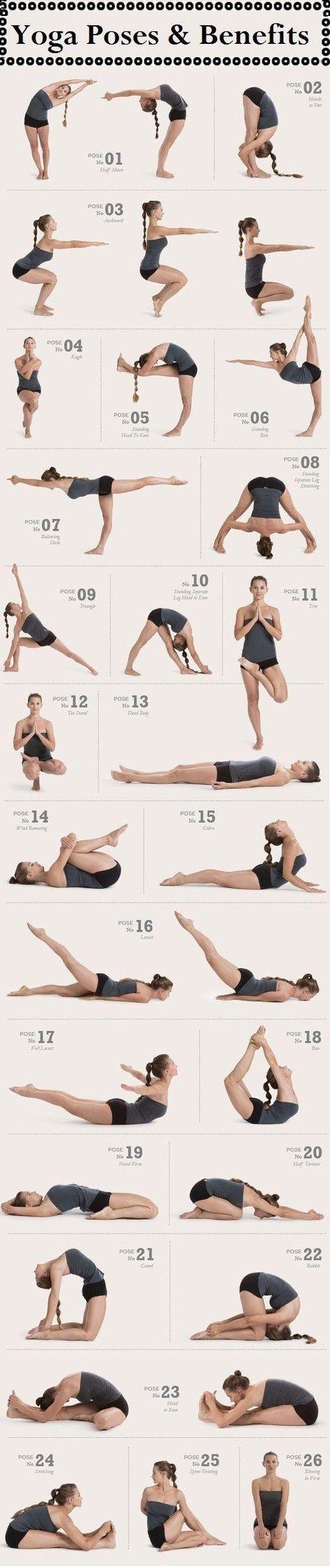 26 poses de yoga à essayer