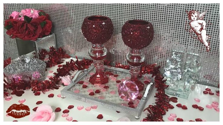 DIY - ❤️ GORGEOUS ❤️ RUBY RED CANDLE HOLDERS USING DOLLAR TREE ITEMS