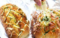 Sýrovo-česnekový trhací chléb 2