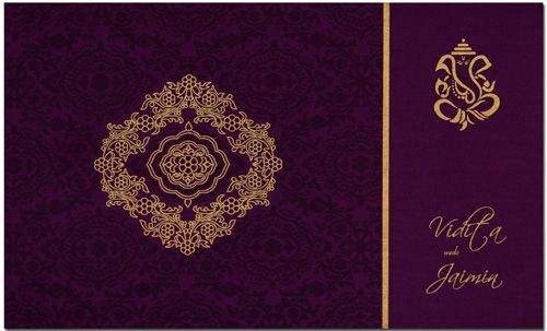 This stylish invitation card is made from rich color satin cloth of fine quality. Card front is covered with designer imprints add a lot of zing to the appearance of this card. Note: It can be customized as per your requirement.